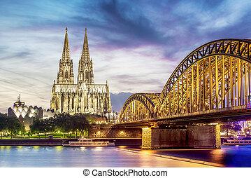 Illuminated Dom in Cologne