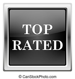 Top rated icon - Metallic icon with white design on black...