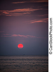 Bautiful Red Sunset Koh Lipe Tropical island Thailand