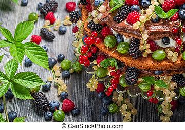 Cake made of wild berries