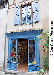 French book store - Blue lavender colored French book store