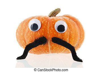 Funny pumpkin with eyes