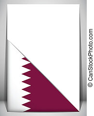 Qatar Country Flag Turning Page