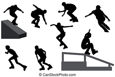 rollerblade silhouettes