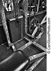 Gym Exercise Equipment - Weight Selector - Black and white...