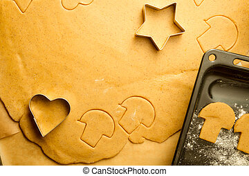 gingerbread, biscoitos,  closeup, Natal