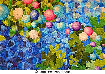 contemporary quilt design - Modern patchwork quilt design...
