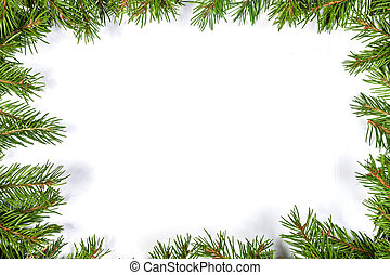 Christmas background Eve framework - Christmas green...