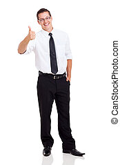 business executive giving thumb up - cute business executive...