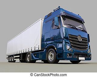 remolque medio, camión