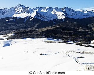 風景, 雪が多い,  colorado, 山