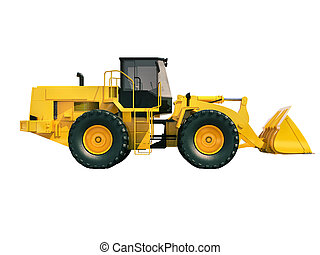 Front loader isolated - Modern front loader isolated on...