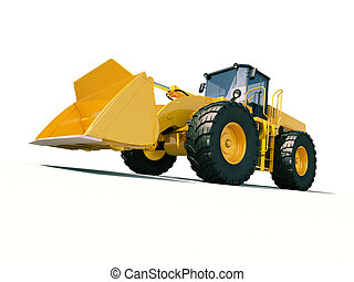 Front loader - Modern front loader on light background with...