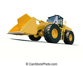 Front loader - Modern front loader on light background with...
