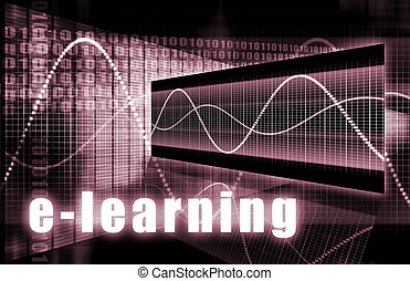 E-Learning Online Web Tech as Abstract Background