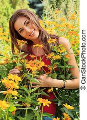 in flowers