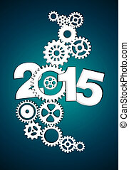 2015 Mechanical Gear dark blue background