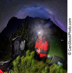 night climb to the summit - A bold and unusual night climb...