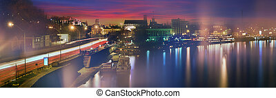 Kiev sunset on the Dnieper River - Kiev sunset on the...