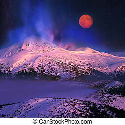 Moon And Goverla - Night winter ascent on the Montenegrin...
