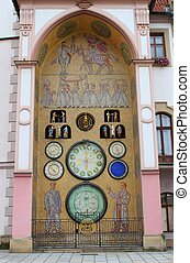 Astronomical clock of Olomouc, Czech Republic