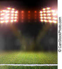 soccer field and bright spotlights