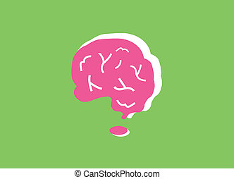 Human brain symbol vector cartoon