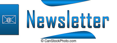 Newsletter Blue Banner - Banner image of newsletter text in...