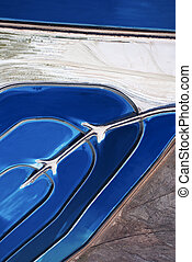 Aerial landscape. - Aerial view of tailing ponds in Utah,...