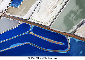 Tailing ponds - Aerial view of tailing ponds in Utah, USA