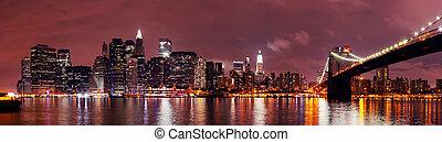 New York City Manhattan night scene