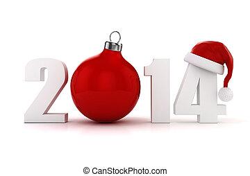 3d, szczęśliwy, nowy, rok, 2014, !