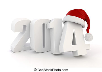 3d Happy New Year 2014
