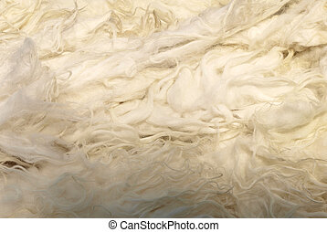 Wool - White sheep wool background material