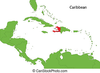 Haiti map - Location of Haiti on the Caribbean