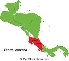 El Salvador map - Location of El Salvador on Central America