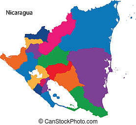 Republic of Nicaragua - Map of the Republic of Nicaragua...