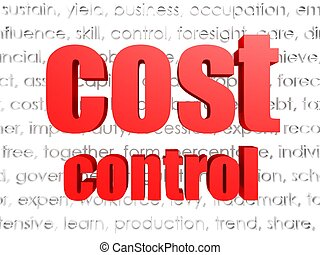 Cost control - Hi-res original 3d rendered computer...