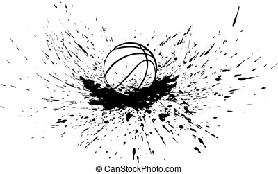Basketball with Splatter