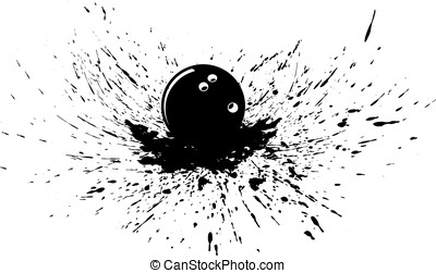 Bowling Ball with Splatter