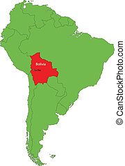 Bolivia map - Location of Bolivia on the South America...