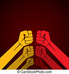 hand fist or or ready to fight hand stock vector