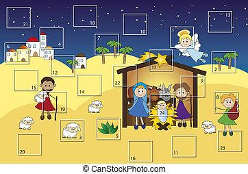 advent calendar - illustration for advent calendar with...