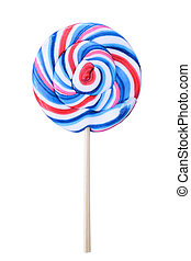 Colorful lolipop isolated on white