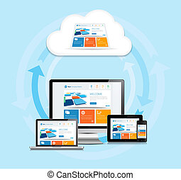 Cloud Computing Experience - This image is a vector file...