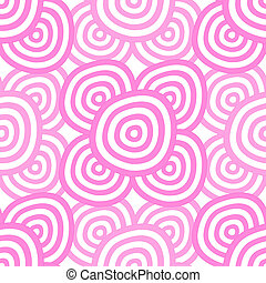 Background - rose rings - Seamless background - hypnotic...