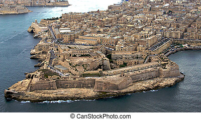 La Valetta, Malta aerial photo - La Valetta, Malta capital...
