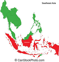 Indonesia map - Location of Indonesia on Southeast Asia