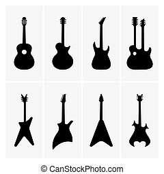 Guitars - Set of guitar icons