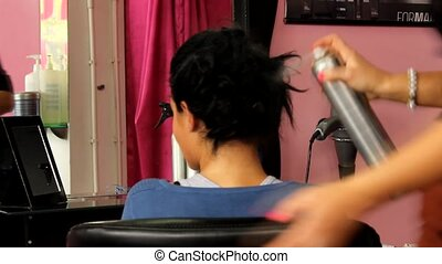 hairdressing salon - Hair-stylist in hairdressing salon